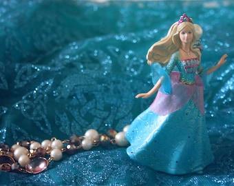Barbie in tiara necklace