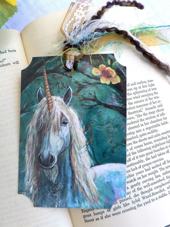 Magical Unicorn in an Enchanted Forest Bookmark