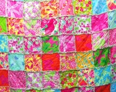 Items Similar To King Size Lilly Pulitzer Rag Quilt Port