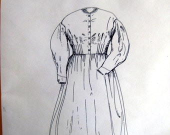 Isabella's Workdress, Civil War era day dress Pattern  Med-Lg-XLG included   Free Shipping