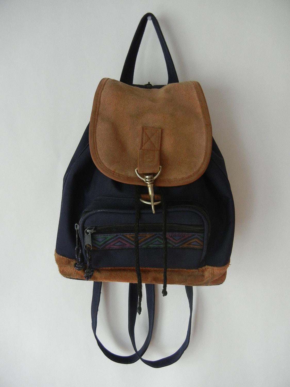 Vintage 90's Southwestern Mini Backpack Grunge Hipster