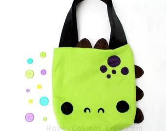 Dinosaur Tote Bag - Schoolbag, Backpack, Bookbag, Reusable Bag, Beach Bag, Women's Tote, Christmas Gift, Halloween Trick or Treat Bag
