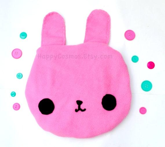 Pink Bunny Tote Bag - Schoolbag, Backpack, Bookbag, Animal Tote Bag, Reusable Bag, Colorful Handmade Tote, Women's Tote, Christmas Gift