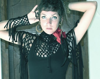 SALE Goddess Macrame short sleeve top