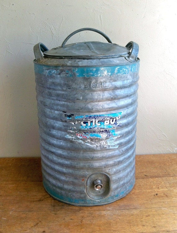 """5 Gallon Arctic Boy Galvanized Steel Cooler """"Perfect For Your Farmhouse Chic Wedding"""""""
