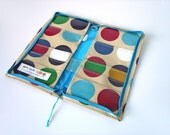 Passport Travel Wallet for Family of 4 by dotty spots - improved - ready for shipping