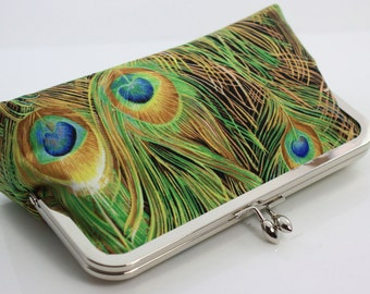 Peacock Bridesmaid Clutch / Wedding Clutch / Wedding Gift - the Florence Style Clutch