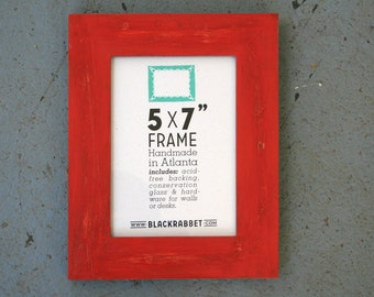 Distressed Rustic Red Picture Frame (5 x 7 in)