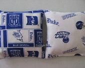 DUKE BLUE DEVILS Cornhole Corn Toss Bean Bag Baggo Bags Set of 8
