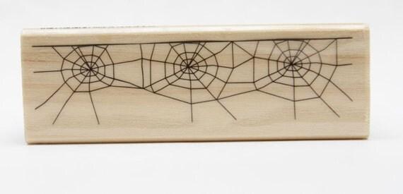 Spider Webbs Wood Mounted Rubber Craftsmart Stamp NEW RELEASE
