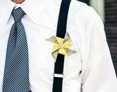 Custom Wedding Pinwheel Boutonniere - Your Wedding Colors