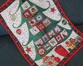 Christmas Tree Advent Calendar, Christmas Wallhanging, Modern Christmas Decoration, Hanging Calendar, Christmas Ornament