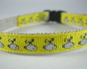"Yellow Submarine organic cotton 1/2"" collar"