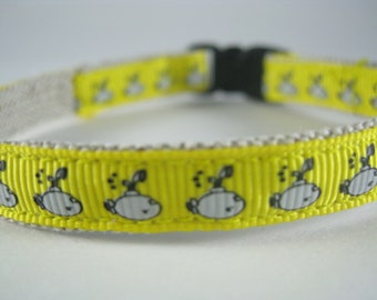 "Yellow Submarine organic cotton 1/2"" collar"