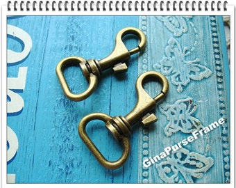 6piece- Swivel-snap hook with buckle vintage style (antique brass color)-- Good quality