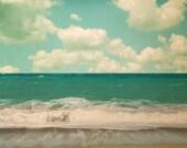 Beach Photography Devotion to the Ocean - Atlantic Ocean, Sea, Nautical, Summer, 8x8 Photograph Beach photo