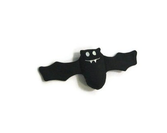 BAT Stuffed Animal Toy - Fangs the Bat  - Stuffed Animal Toy - Ready to Ship black goth kids gift baby shower toy halloween