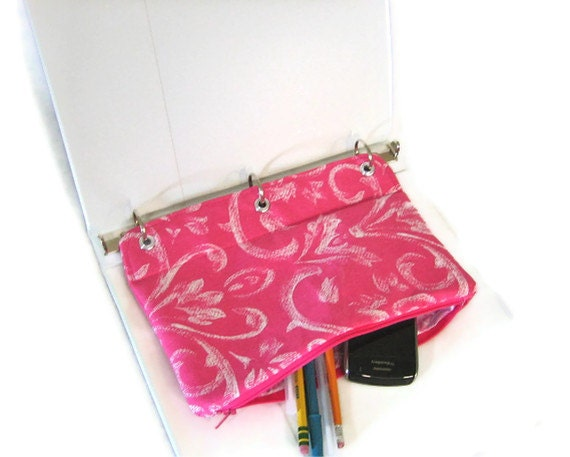 binder pencil case hot pink pencil pouch for 3 ring binder hot