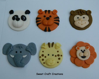 Zoo Animals Fondant Cupcake Toppers (12)