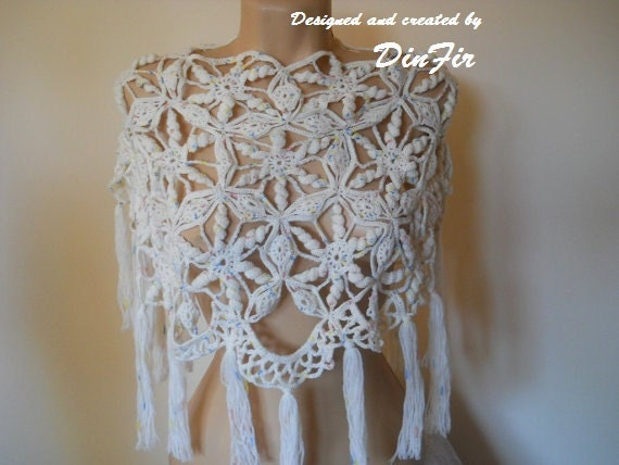 Wedding Gift Knitting Patterns : BRIDESMAID PONCHO CAPELET / Wedding Bridal Accessories by DinFir