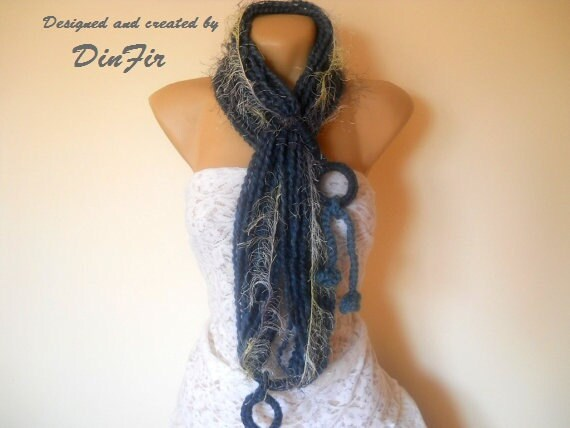WOOL  SCARF  INFINITY,  Women Crocheted Loop Scarf,  Women / Winter / Elegant / Warm / Romantic / Wool / Neckwarmer / Feminine