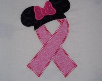 Breast Cancer appliqued t-shirt