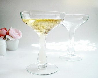 Hollow Stem Champagne Glasses Vintage Coupes Champagne Saucers Wedding Toasting Glasses