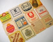 Square Vintage Bar Coasters European Beers Ales and Others