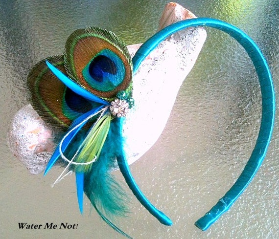 Customize Peacock Headband-peacock wedding- flower girl