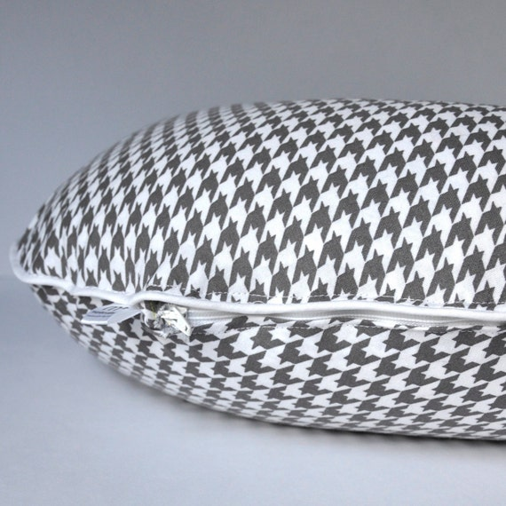 Grey Houndstooth Boppy Cover
