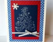 Embossed Silver Christmas Tree Greeting Card