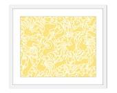 Whimsical Animals - Yellow - Chrity Print- Nursery Wall Art - Woodland - Home Decor - Pastel Colors - Babies