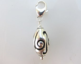 Sterling Clip On Charm