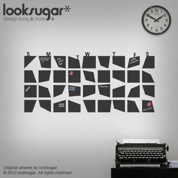 Chalkboard Calendar Decal : Chalkboard wall calendar decal for your home