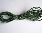 Dark Green and Silver Cord