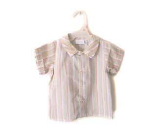 SALE!!!!  Vintage baby boy Striped shirt