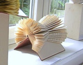 Book Sculpture  - The X-Files - folded Book Art