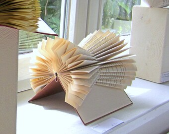 Book Sculpture  - The X-Files - folded Book Art