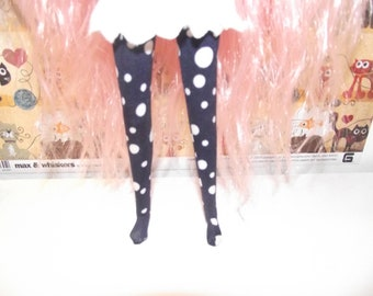 Dark blue with white dots tights leggins for Pullip doll