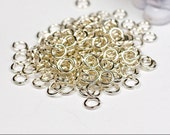 22g 2.0mm ID 3.3mm OD silver filled jump rings -- 22g2.00 open jumprings jewelry findings supplies links