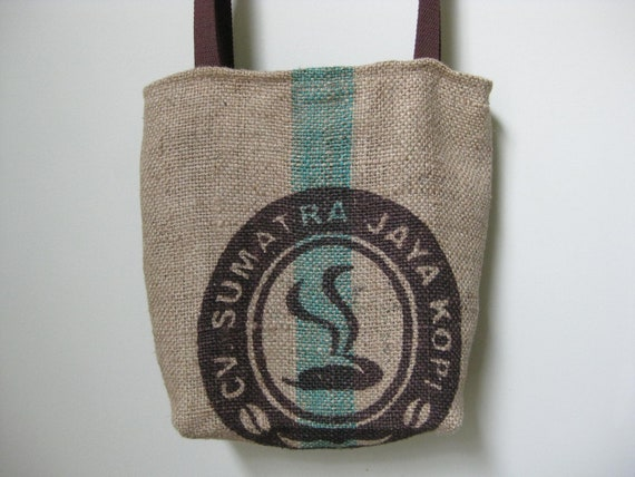 Handmade Coffee Sack Purse Tote Handbag