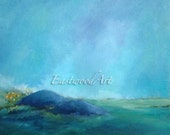Rocks at the Beach, Water, Seascape, Sky, Original Landscape Painting