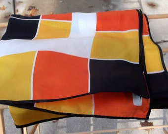 Autumnal color block scarf by PAOLI