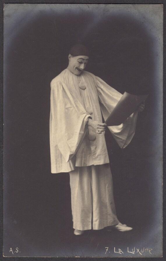 Early 1900s Pierrot Postcard