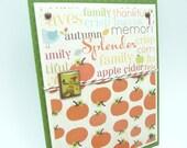 Thanksgiving Greeting Card, Fall Pumpkin Card, Handmade Autumn Greeting Card, Happy Thanksgiving Handmade Paper Greeting Card Fancy Card