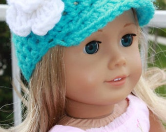 "Crocheted Doll Beanie Hats.  Fits 18"" dolls and American Girl Dolls & Bitty Baby"