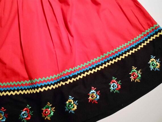 70s Boho Skirt and Peasant Blouse
