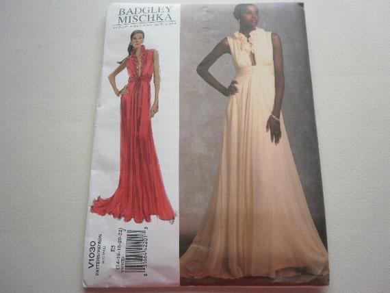 Pattern Women Dress Designs by Badgley Mischka  Sz 14 to 22  Vogue 1030