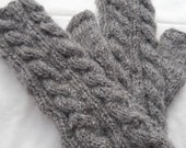 Knitted Wool Fingerless Mitts