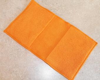 Fleece Swiffer Sweeper Pad Refill- Set of 2- ORANGE- 25002